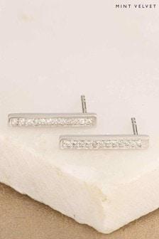 Mint Velvet Silver Tone Climber Earrings