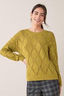 Argyle Pattern Stitch Jumper