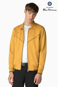 Ben Sherman Main Line Yellow Tricot Track Top