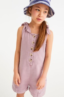 Button Front Short Playsuit (3-16yrs)