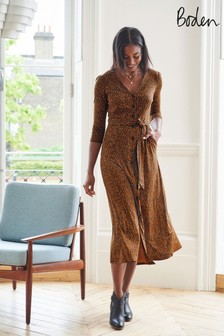 Sukienka midi z dżerseju Boden Fleur