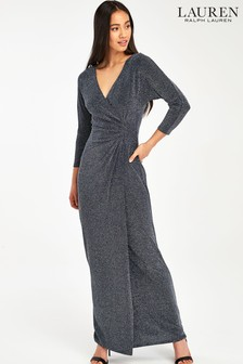 Lauren Ralph Lauren® Navy Metallic Leira Maxi Dress