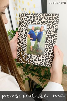 Personalised Leopard Print And Zebra Photo Frame by Solesmith