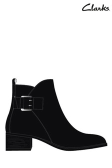 Clarks Black Mila Charm Boots