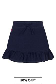 Ralph Lauren Kids Girls Navy Cotton Skirt
