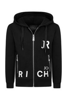 John Richmond Boys Black Cotton Sweat Top