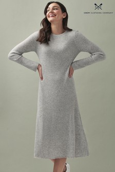 Crew Clothing Company Grey Celia Knitted Dress