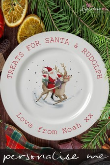 Personalised Santa Christmas Eve Plate by Signature PG
