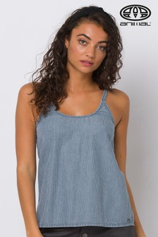 Animal Blue Shimmy Woven Vest