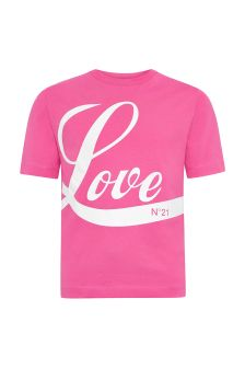 N°21 Girls Pink Cotton T-Shirt