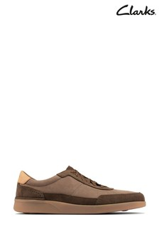 Clarks Dark Olive Combi Oakland Run Shoes