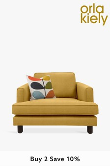 Orla Kiely Willow Snuggle Sofa with Walnut Feet