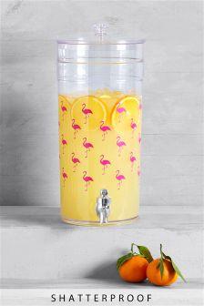 Flamingo Print Drinks Dispenser