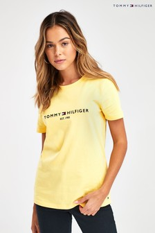 Tommy Hilfiger Yellow Essential Logo T-Shirt