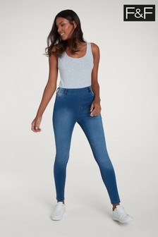 F&F Blue Mid Wash Lexie Jegging