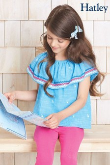 Hatley Fancy Flamingo Shoulder Flounce Top