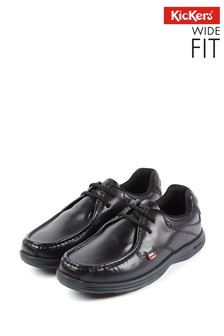 Kickers® Black Wide Fit Reasan Lace Shoes