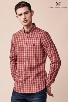 Crew Clothing Company Red Millom Slim Shirt