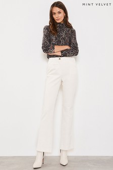 Mint Velvet Cream Cord Trouser