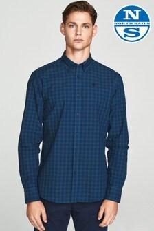 North Sails Microcheck Button Down Regular Fit Long Sleeve Shirt