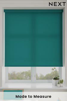 Asher Teal Blue Made To Measure Light Filtering Roller Blind