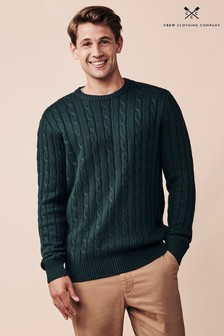 Crew Clothing Company Green Regatta Cable Crew Jumper