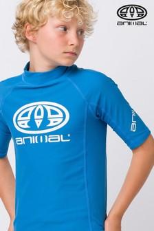 Animal Blue Hiltern Short Sleeve Rash Vest