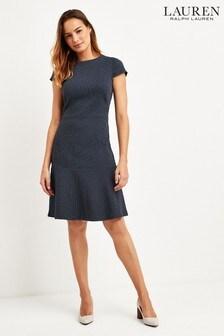 Lauren Ralph Lauren® Navy Alodie Stretch Shift Dress