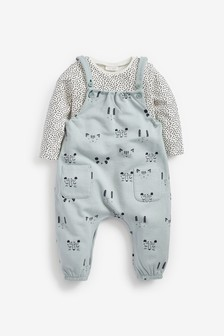 Character Dungarees And Bodysuit (0mths-2yrs)
