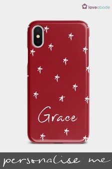 Personalised Red Star Phone Case by Loveabode
