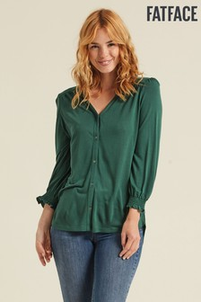Fatface Green Marigold Longline Top