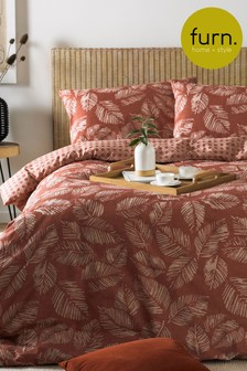 Japandi Red Bedset by Furn