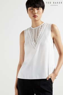 Ted Baker Lulabel Lace Insert Sleeveless Top