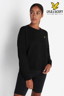 Lyle & Scott Jet Black Crew Neck Jumper