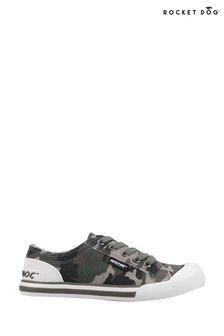 Rocket Dog Brown Jazzin Soldier Camo Cotton Canvas Shoes