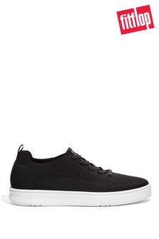 FitFlop Black Men's Rally Multi-Knit Trainers