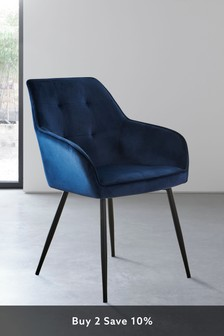 Cole Arm Dining Chair With Black Legs