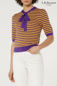 L.K.Bennett Yellow Charlotte Wool Jumper