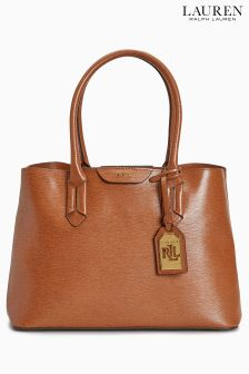 Lauren Ralph Lauren® Tan Leather City Tote Bag