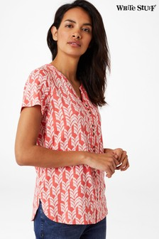 White Stuff Pink Willow Jersey Shirt