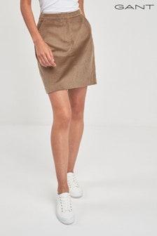 GANT Beige Wide Wale Cord Skirt