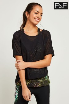 F&F Multi Tropical Print 2 In 1 T-Shirt