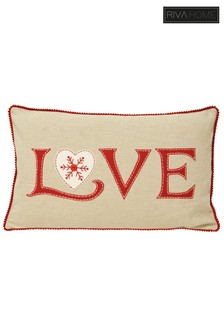 Nicholas Love Heart Cushion by Riva Home