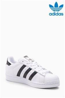 Biało-czarne buty adidas Originals Sparkle Superstar