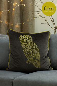 Furn Grey Forest Fauna Owl Cushion