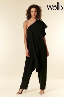 Wallis Black One Shoulder Jumpsuit