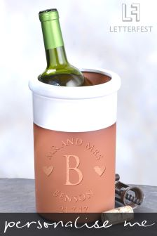 Personalised Mr And Mrs Wine Cooler By Letterfest