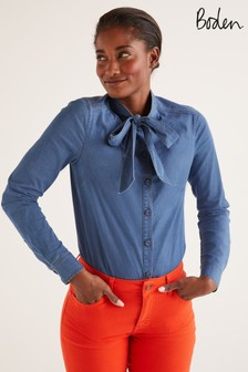 Boden Keira Bow Neck Shirt
