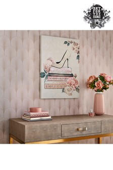 Fashion And Flowers Canvas by Art For The Home