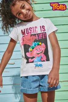 Trolls Licence Sequin Poppy T-Shirt (3-16yrs)